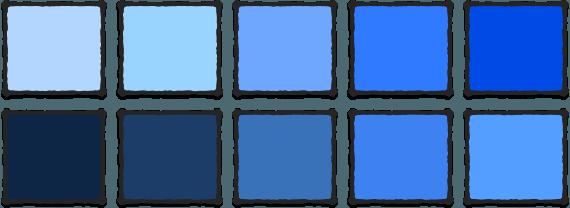 Синий цвет такой разный