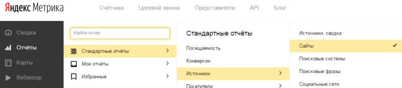 Где искать отчет по трафику 2Гис в Яндекс Метрике