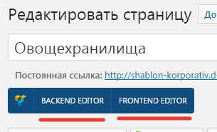backend editor или fronted editor